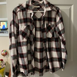 La Hearts Tops - LA hearts plaid button down